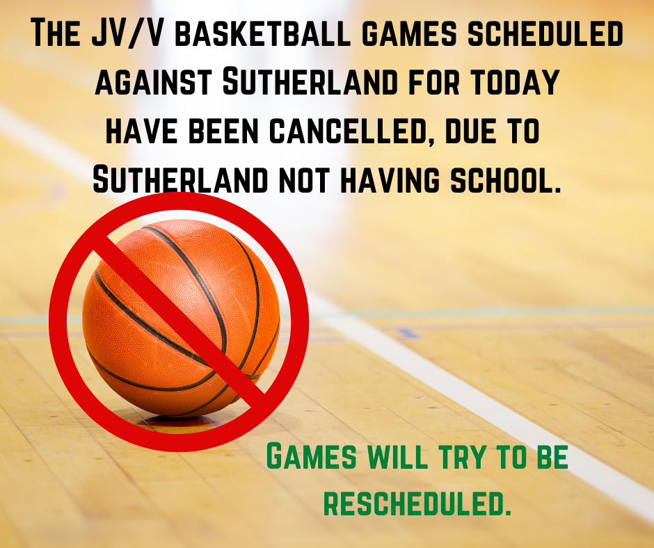bball games cancelled 1/26/2021